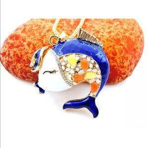 Cute Blue Fish 🐟 Necklace
